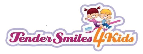 pink and orange Tender Smiles 4 Kids Logo